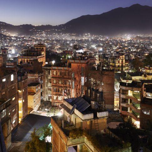 Kathmandu by night, Nepal